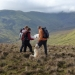 Walking with views of the Aran ridge