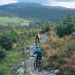 Mountain Biking at Coed y Brenin with mountain views